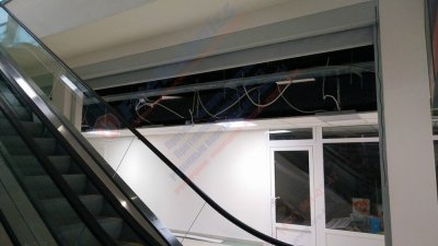 Противопожарные автоматические шторы EI 120 на ЖД вокзале